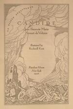 Voltaire. Candide. Illustrated and signed by Rockwell Kent. Limited ed. NY, 1928