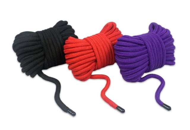 Soft and Durable 32 feet 10m Pack of 3 Black Red Pink All Purpose Soft Cotton Rope