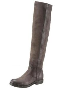 Details zu A.S.98 Overknee Stiefel grau Damen , Gr. EUR 38, EUR 39