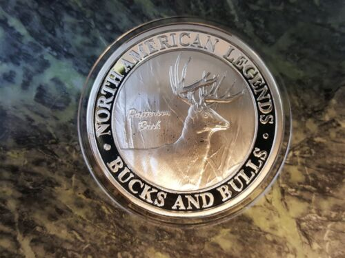Patterson Buck Deer North American Hunting Club NAHC Bucks and Bulls Silver Coin