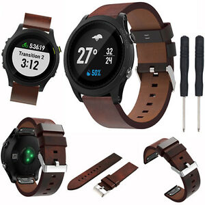 Classic-Replace-Leather-Watch-Band-Wrist-Strap-For-Garmin-Fenix-5-Forerunner-935
