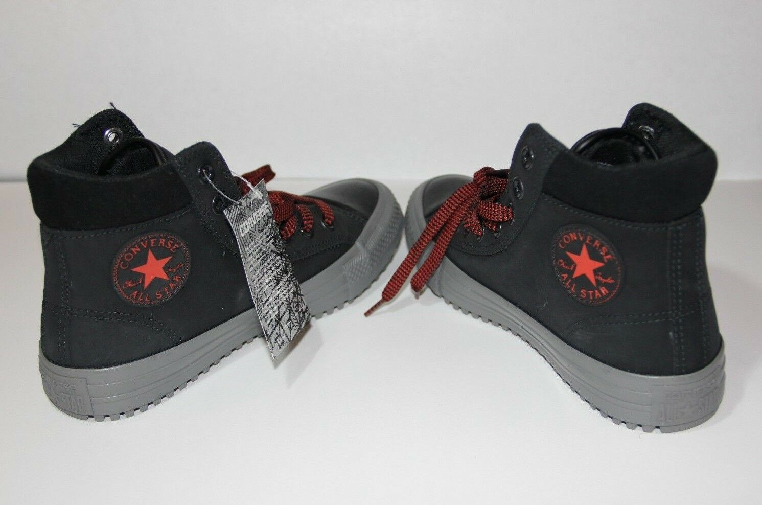 Converse Chuck Taylor All Star PC High Top Women Sz 6 US Boots Black/Red/Grey