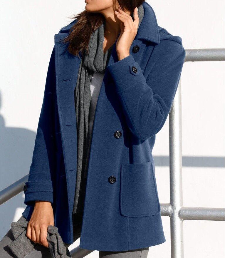 Chaqueta lana chaqueta abrigo remiendos lana cachemira talla  50 nuevo  envío rápido en todo el mundo
