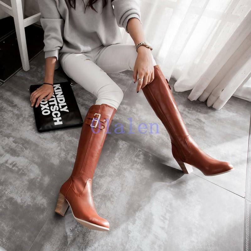 Womens Ladies knee high boots Modern Large size Knight Thigh boots oversized new