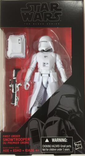 Star Wars The Force Awakens Black Series 6 Inch Snowtrooper New in hand