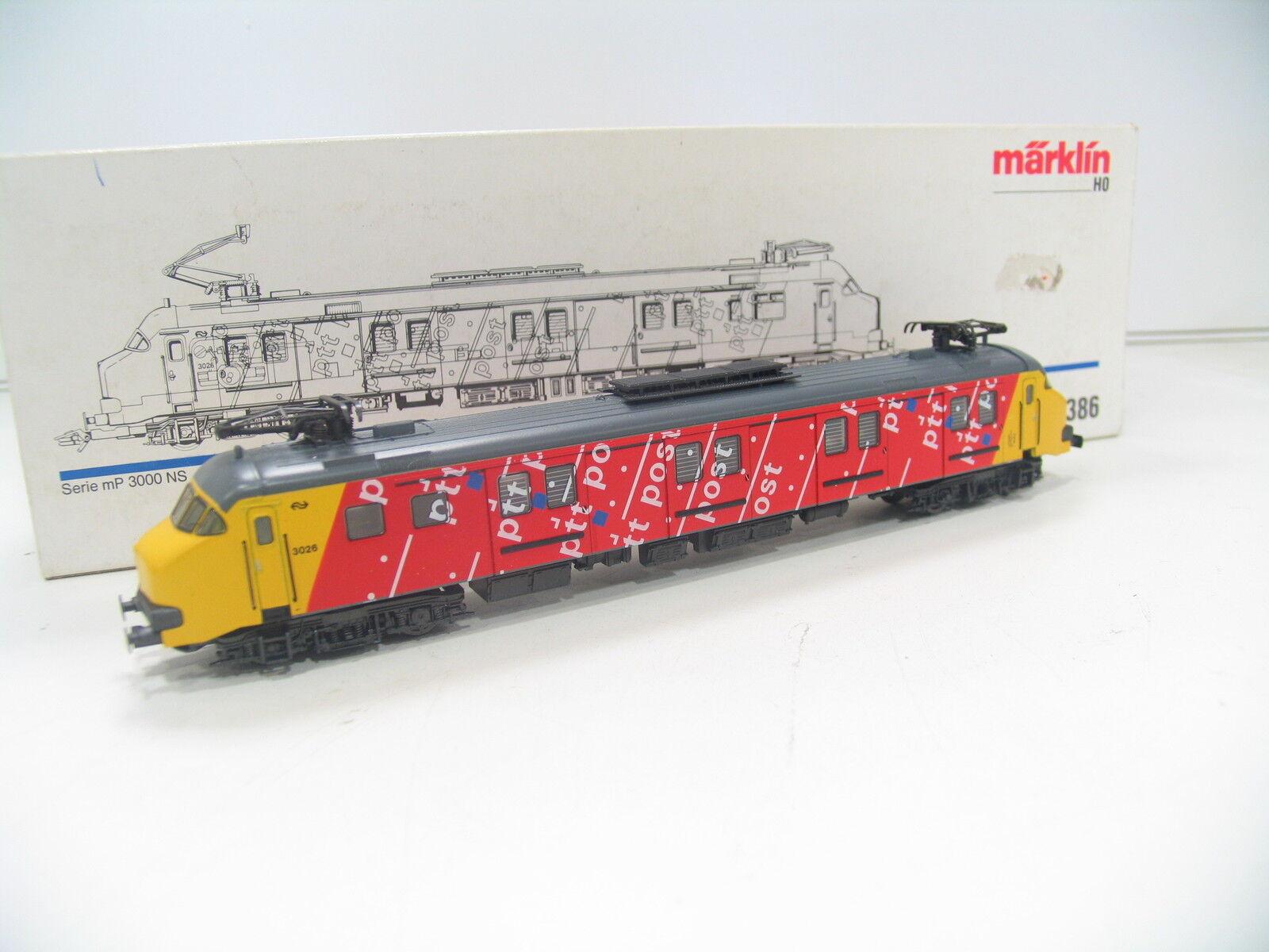 Märklin 3386 Railcar MP 30000 Yellow Red NS hi356
