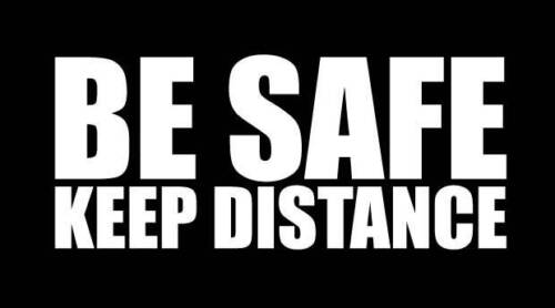 Be safe keep distance road safety funny humor sticker vinyl decal car bumper