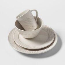 Stoneware 16pc Dinnerware Set Tan Bamboo Pattern - Threshold | eBay