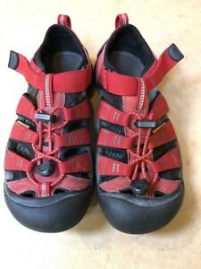 KEEN Youth Newport H2 Waterproof Water Shoes Sandals Red Kids Size 4 ...