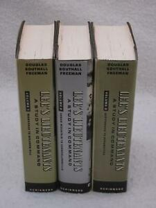 Douglas-Southall-Freeman-LEE-039-S-LIEUTENANTS-3-Vol-Set-Scribners-Book-Club-Eds