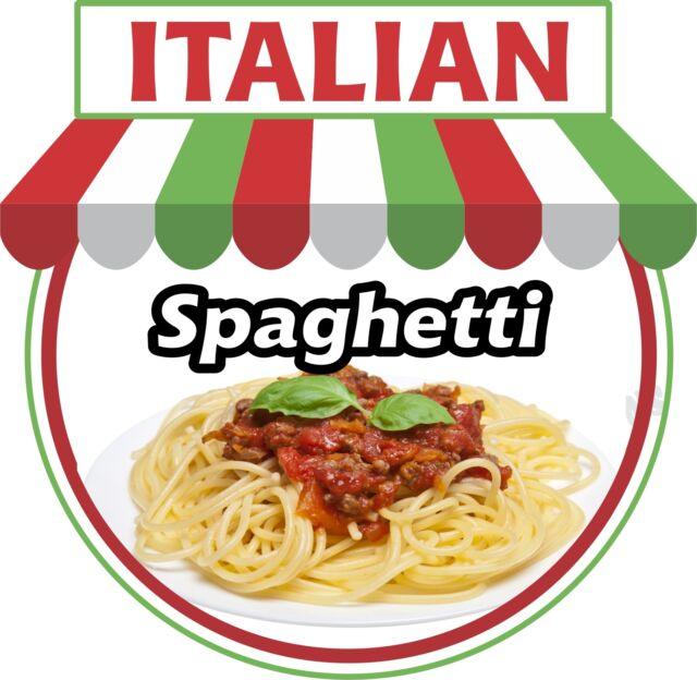 "Italian Spaghetti 14"" Decal Pasta Food Truck Concession Restaurant Vinyl"