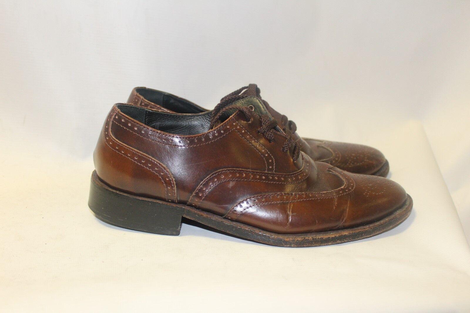 Uomo Braun Leder Samuel Windsor Brogues Brogues Brogues Größe 7 Formal Schuhes Wedding 6b1b51