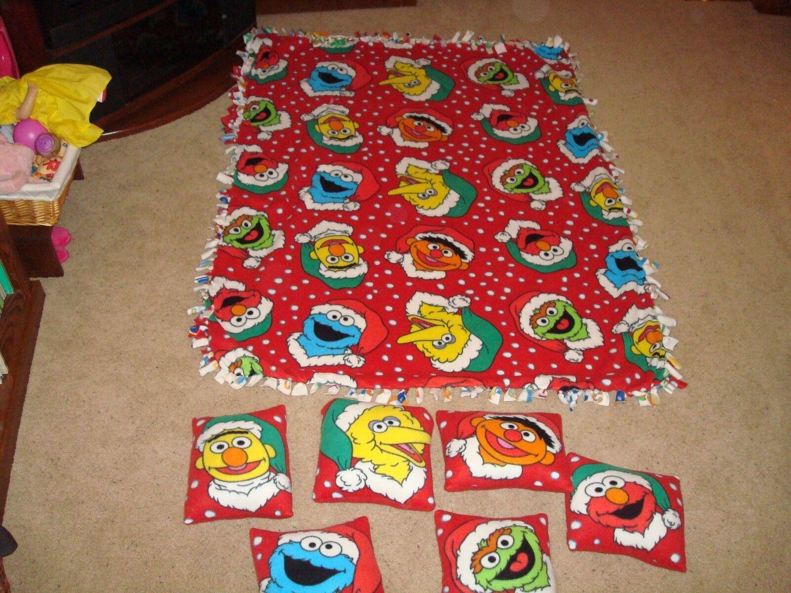 Mano raro conjunto de almohadas Sesame Street Polar Made y Manta Ernie Bert OsCoche Wow