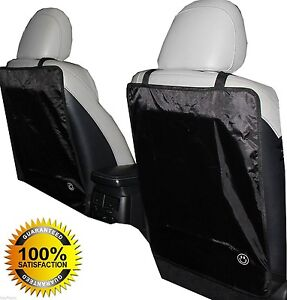 1 Best Quality Lebogner Luxury Car Seat Back Protectors 2 Pack Large Auto Kick
