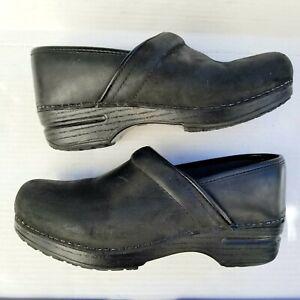 Dansko Clogs Black Leather Women's
