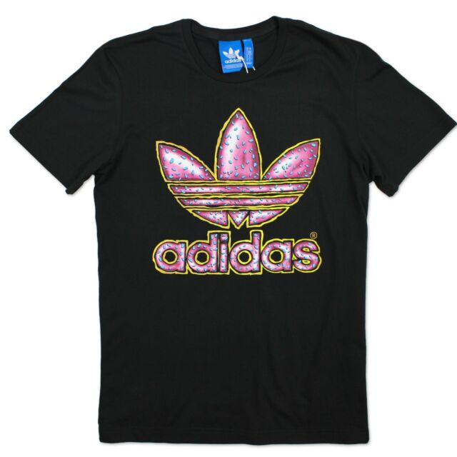 wholesale dealer 5d2e0 b5489 Adidas Originals Graphic Trefoil Donut Tee Men s Casual T-Shirt BLACK XS