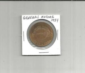 LAM-A-Token-General-Motors-1954-50-Million-Cars-31-MM-Brass