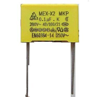 5pcs 104 /280V Polypropylene Safety Capacitor (0.1uF)