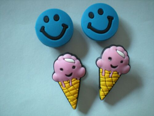 s CLOG SHOE CHARMS  BRACELETS BELTS 4 ICE CREAM CONE SMILE FACE