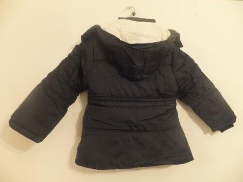 4-14 NEW GIRL/'S DETACHABLE COAT//JACKET BLACK FULL FLEECE LINE AGES