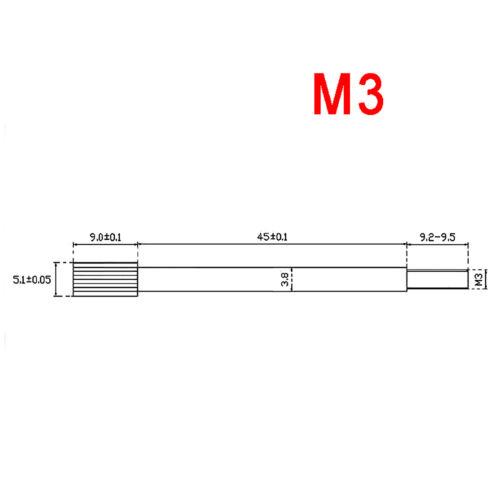 M3 Cylinder Head Knurled Long Thumb Screws Ni-plated Steel Hand Grip Knob Bolts