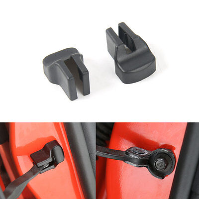 2x New Car Door Stopper Buckle Stop Cap Rust Protector Cover For Ford Mustang
