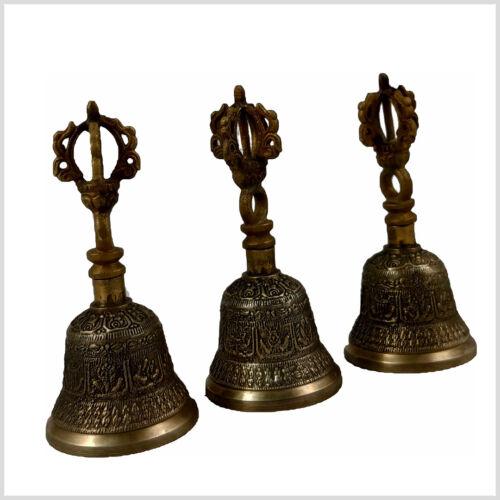 Glocke Ghanta Dorje als Griff 10cm Klangschale Zymbel Einleitung zur Meditation