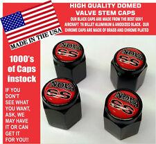 Billet Chevrolet Chevy Nova SS 307 327 350 396 454 Red Valve Stem Cap - Unique