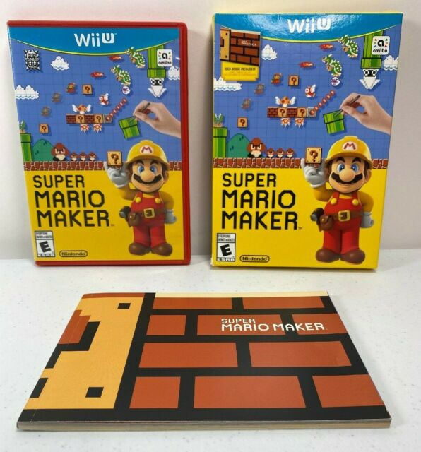 Super Mario Maker Nintendo WII U US Version With Idea Book