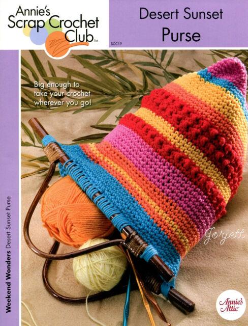Desert Sunset Purse ~ Tote Bag Totebag, Annie's crochet pattern