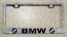 BMW License Plate Frame made with Swarovski Crystals - Car Jewelry