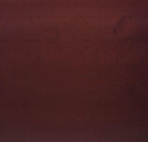 "DUPIONI SILK WINE RED D4101 100/% SILK FABRIC W// KNIT BACKING BY YARD 54/""W"