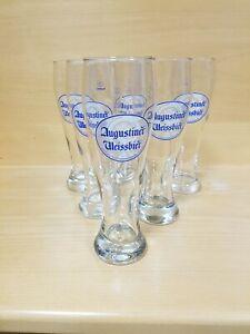 Augustiner  Weissbier Weizen Gläser 6 Glas 0,5 L Weizengläser