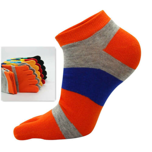 1 Pair Men/'s Sport Casual Ankle Finger Toe Socks Cotton Breathable Sweat Uptake
