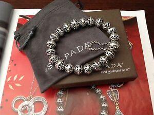 In Style; Silpada Bracelet B2905 Hemisphere Sterling 925 Filigree Magnetic Bead Ball Fashionable