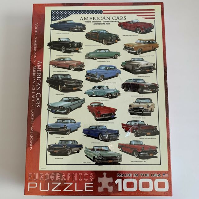 Jigsaw Puzzle Eurographics Car 1950 S American Cars 1000 Pc Made In The Usa For Sale Online Ebay