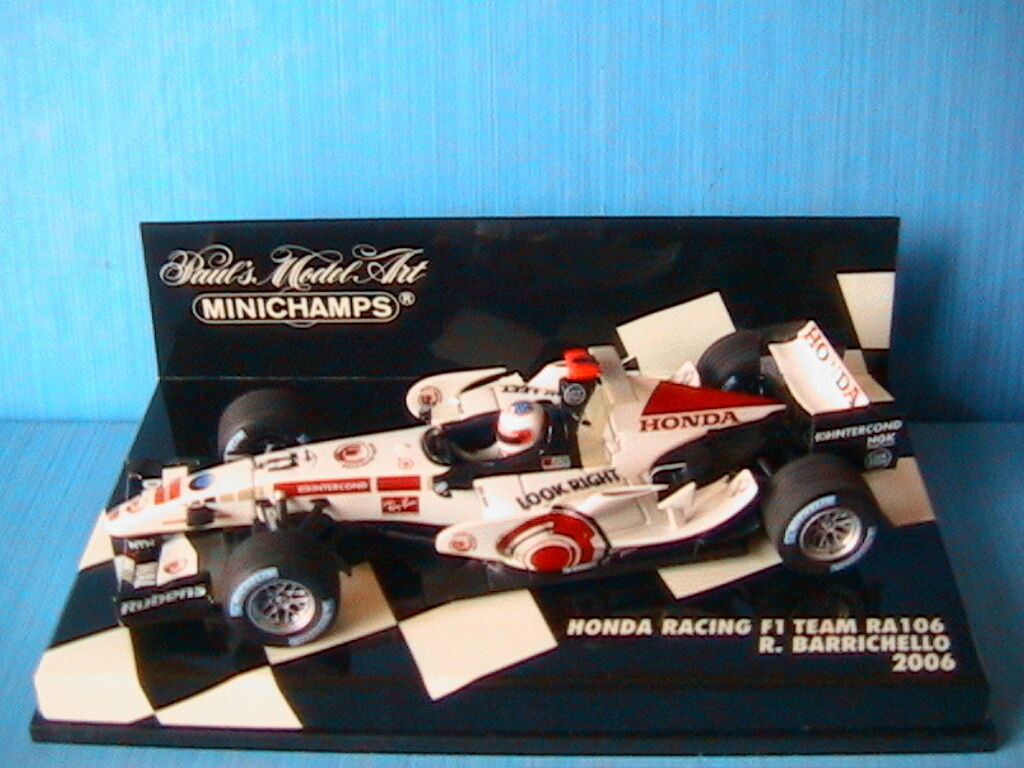 HONDA RACING F1 TEAM RA106  11 BARRICHELL0 2006 MINICHAMPS 400060011 1 43