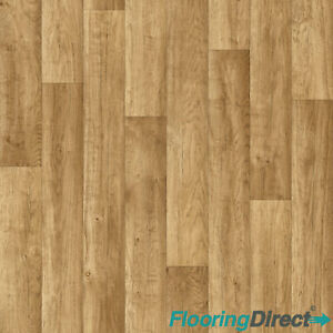Chalet Oak Wood Effect Vinyl Flooring Kitchen Bathroom Cheap Lino