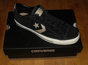 b251c15c0e4fa8 Converse Star Player Mens Ox Black Suede Trainers Size UK 8   EUR ...