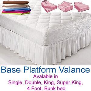 Base platform valance bed sheet in all sizes premium for Divan valance sheet
