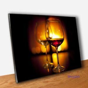 Dettagli su Quadro Pannello Calici di Vino Stampa Quadri Moderni Arredo Bar  Pub Cucina