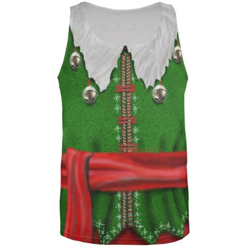 Christmas Elf Costume All Over Adult Tank Top