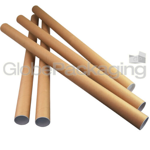 STRONG CARDBOARD POSTAL TUBES A0 A1 A2 A3 A4 IN 50mm /& 44.5mm WITH END CAPS
