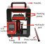 5-Ton-Hydraulic-Heat-Press-Machine-Oil-Extractor-Dual-Heating-Plate-6x12CM-220V miniature 4
