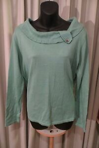 VINTAGE-Style-50-039-S-FIELDS-Green-Collar-Feature-JUMPER-Size-M