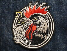 ECUSSON PATCH THERMOCOLLANT COQ rockabilly micro biker trike country rock usa