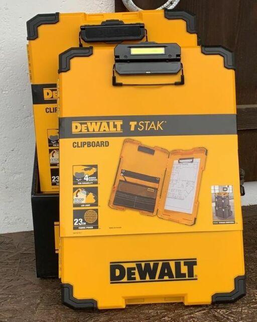 DeWalt Clipboard Klemmbrett Schreibbrett Schreibunterlage LED-Licht DWST82732-1