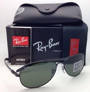 14cacf5b19623 Ray-Ban Sunglasses RB 8301 002 Tech 59-14 Black Carbon Fiber Frames ...
