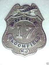 1930'S OBSOLETE SPECIAL POLICE BADGE BLOOMFIELD NEW JERSEY