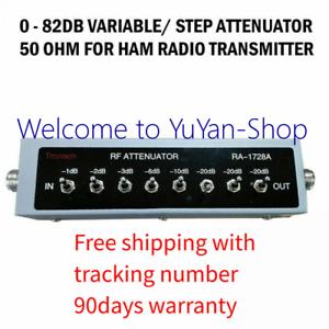 New 0 82db Variable Step Attenuator 50 Ohm For Ham Radio Transmitter Free Ship Ebay